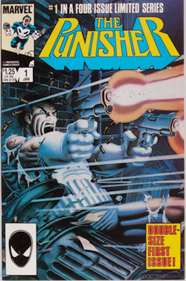 Punisher #1 (Circle of Blood mini-series) (Marvel, 1986): First Punisher solo series. Click for values