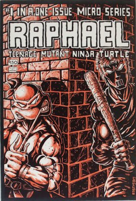 Most valuable Teenage Mutant Ninja Turtles comic books: Raphael #1: TMNT One-Shot Spin-Off (1985), 1st printing; 1st Casey Jones. Click for values