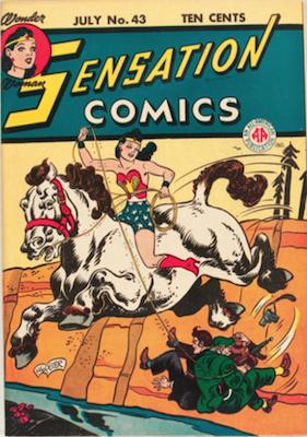 Sensation Comics #43. Click for current values.