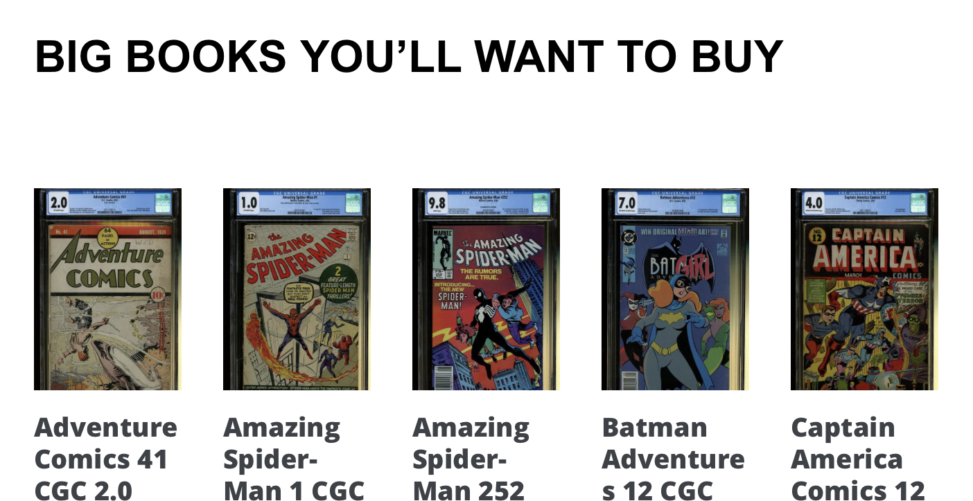 CLICK HERE to See our Online Comic Book Store, Hosted on Shopify