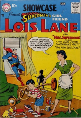 Showcase #9 (Aug 1957): First Lois Lane tryout issue. Click for values