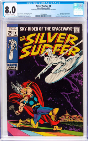 Try to find a copy of Silver Surfer #4 with white pages in at least 8.0. Click to find a copy