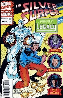 Silver Surfer Annual #6, 1st Legacy. Click for values