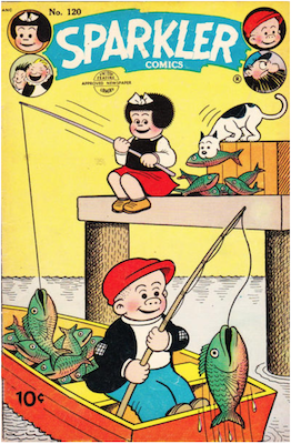 Sparkler Comics #120 (1954): Early Peanuts appearance. Click for values.