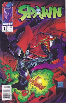 Spawn #1: Image Comics 1992. Newsstand variant. Click for values