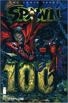 Spawn #100 (McFarlane). Click for values.