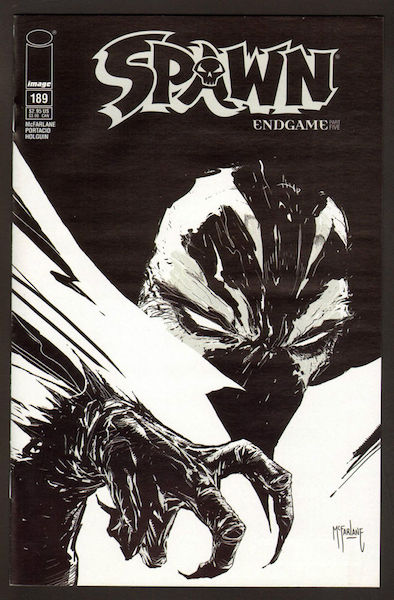 #27: Spawn 189 McFarlane Sketch (2009). Click for values