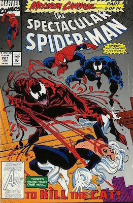 Spectacular Spider-Man #201: Maximum Carnage crossover story. Click for values