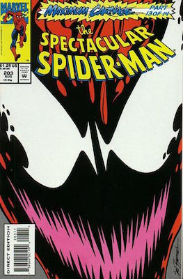Spectacular Spider-Man #203: Carnage comic. Click for values