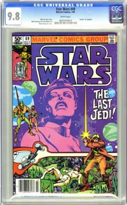 There is only one grade to consider for Star Wars #49: CGC 9.8. Click to buy