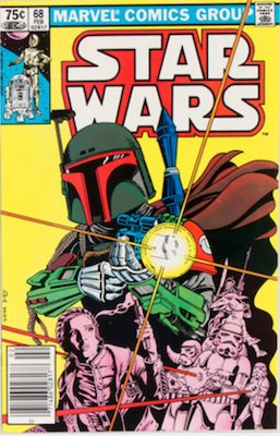 Star Wars #68: 2nd appearance of Boba Fett in comics, Canadian Price Variant. Click for values