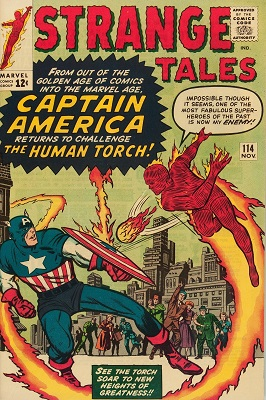 Strange Tales #114: Captain Marvel 'returns' (The Acrobat imitates him). Click for values