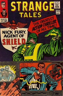 Strange Tales #135: First appearance of Nick Fury, Agent of SHIELD. Click for values