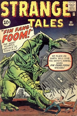 Strange Tales #89: First appearance of Fin Fang Foom. Click for values