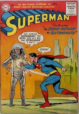 Superman #106: Origin story retold. Click for values