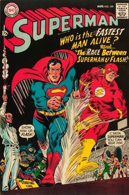 Superman #199: First race with The Flash. Click for values
