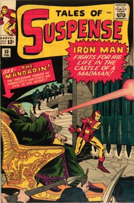 Tales of Suspense #50: Origin and first appearance of The Mandarin. Click for values