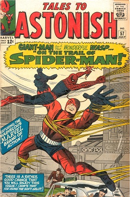 Tales to Astonish #57: Amazing Spider-Man Crossover and early appearance. Click for value