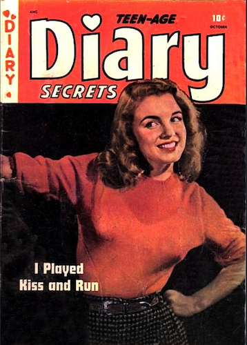 Teen-Age Diary Secrets #6 by St. John Publishing. Rare! Marilyn Monroe cover photo. Click for values