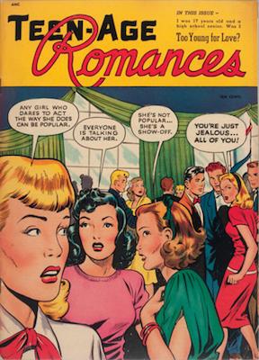 Teen-Age Romances #1: Matt Baker cover art. Click for values