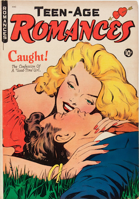 Teen-Age Romances #14: classic Baker cover. Click for values
