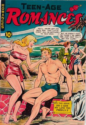Teen-Age Romances #9: Matt Baker cover art. Click for value