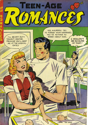 Teen-Age Romances #2. Classic cover art by Baker. Click for values