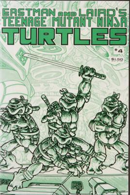 Teenage Mutant Ninja Turtles #4 (1985). Click for value