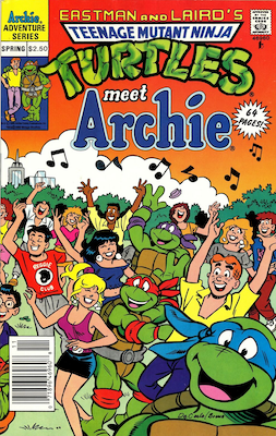 Teenage Mutant Ninja Turtles Adventures, not numbered (dated 1991). Archie Publications. Click for values