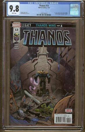 Thanos 13 CGC 9.8. Last sale $309. Click to find a copy