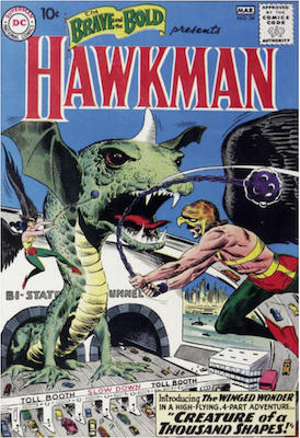 Brave and the Bold #34: First Appearance of Silver Age Hawkman and Hawkgirl. Click for current values.