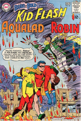 Brave and the Bold #54: First Appearance of the Teen Titans. Click for current values.