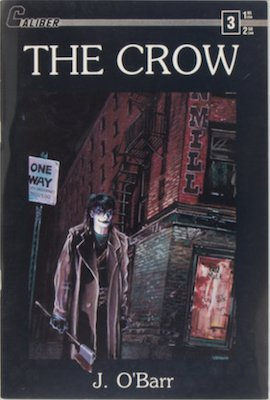 Most valuable comic books of the copper age, The Crow #3 (1989): First printing. Click for values