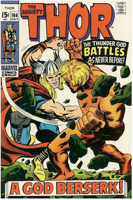 Thor #166; Second full Adam Warlock appearance. Click for values.