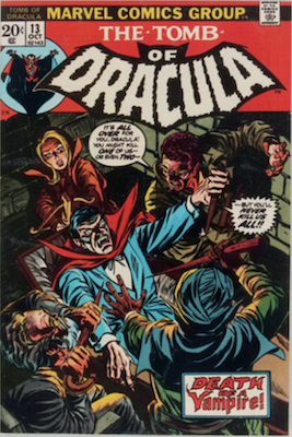 Tomb of Dracula #13, Origin of Blade the Vampire Slayer. Click for values