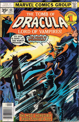 Tomb of Dracula #60 35 Cent Price Variant