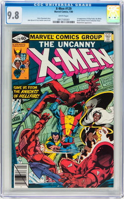 Find yourself a WHITE pages CGC 9.8 of Uncanny X-Men 129. Click to search now