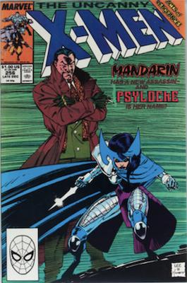 Uncanny X-Men #256: 1st Betsy Braddock as Psylocke. Click for values
