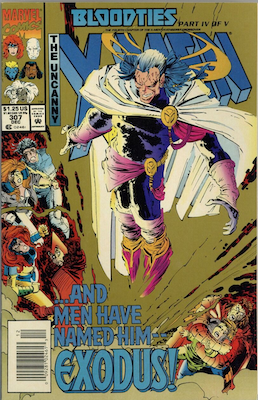 Uncanny X-Men #307 Gold Edition: Pressman mail-away promotion. Click for values
