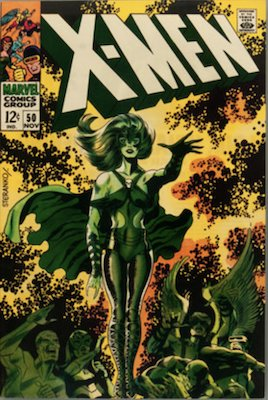 Uncanny X-Men #50: Origin of the Beast, Classic Cover by Steranko. Click for values