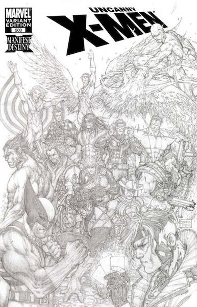 Top 100 Variant Comics: 100: Uncanny X-men 500 Turner Sketch (2008). Click for values