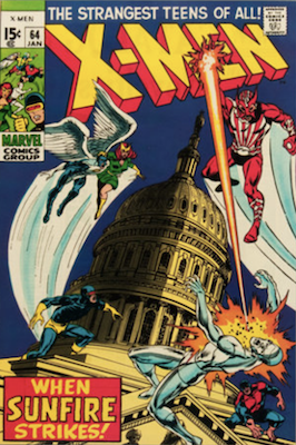 X-Men #64: 1st appearance of Sunfire. Click for values