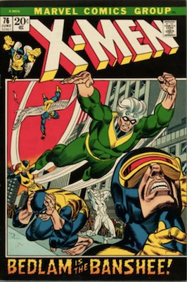 Uncanny X-Men #76. One of the reprint series which ran until #94 relaunched the series. Click for values