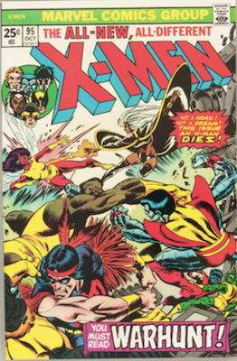 Uncanny X-Men #95, 4th Wolverine, Death of Thunderbird. Click for values