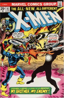 Uncanny X-Men #97, Return of Havok and Polaris, 1st appearance of Lilandra. Click for values