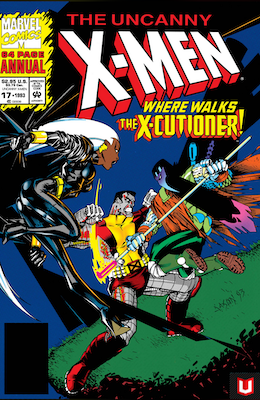 Uncanny X-Men annual #17: 1st appearance of the X-Cutioner,