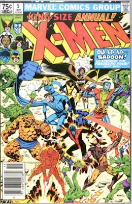 Uncanny X-Men Annual #5. Click for values