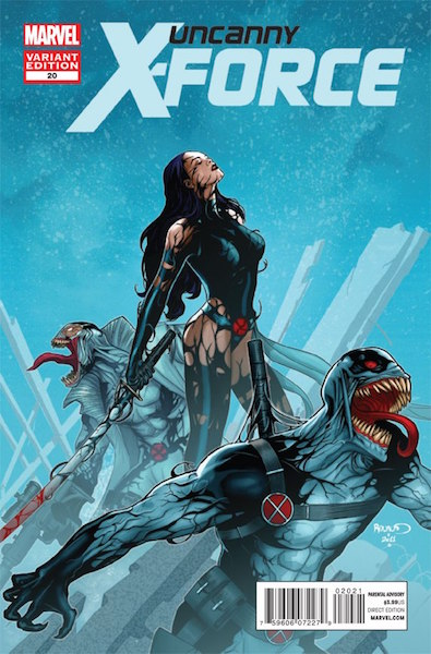 #19: Uncanny X-Force 20 Renaud Venom Variant (2012). Click for values