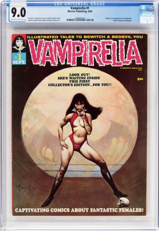 Hot Comics: Vampirella 1. Look for CGC 9.0. Click to order a copy