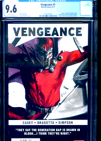 We recommend a CGC 9.6 copy of Vengeance 1 (1st Miss America Chavez). Click to buy a copy